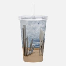 Omaha Beach Monument Acrylic Double-wall Tumbler