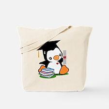 Graduation Penguin Tote Bag