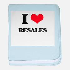 I Love Resales baby blanket