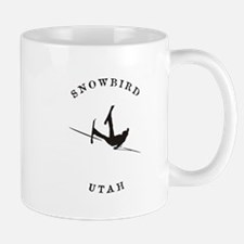 Snowbird Utah Funny Falling Skier Mugs