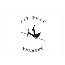 Jay Peak Vermont Funny Falling Skier Postcards (Pa
