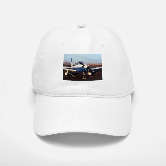 Aircraft (blue & white) at Page, Arizona, USA Baseball Baseball Cap