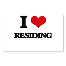 I Love Residing Decal
