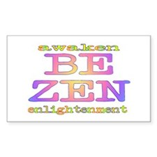 Be Zen Rectangle Decal