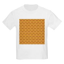 Yellow Red Tribal Pattern T-Shirt