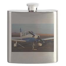 Aircraft (blue & white) at Page, Arizona, US Flask
