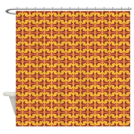 Yellow Red Tribal Pattern Shower Curtain By Admin Cp58985537