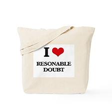 I Love Resonable Doubt Tote Bag