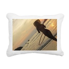 hula hoop beach Rectangular Canvas Pillow