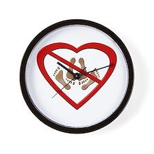 No Love Making Feet Wall Clock