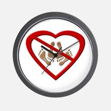 No Love Making Feet Wall Clock