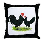 Black Dutch Pair Throw Pillow