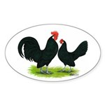 Black Dutch Pair Oval Sticker