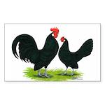 Black Dutch Pair Rectangle Sticker