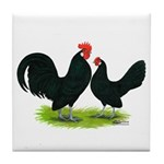 Black Dutch Pair Tile Coaster