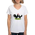 Black Dutch Pair Women's V-Neck T-Shirt