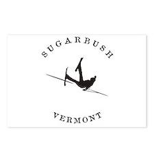 Sugarbush Vermont Funny Falling Skier Postcards (P