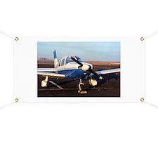 Aircraft (blue & white) at Page, Arizona, U Banner