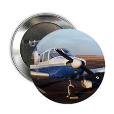 """Aircraft (blue & white) at Page, Ariz 2.25"""" Button"""
