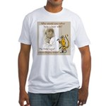chimp vs lama Fitted T-Shirt