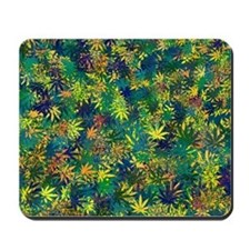 Abstract Leaf Pattern Mousepad