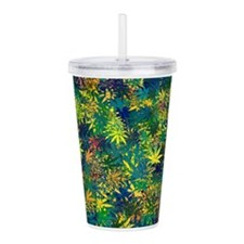 Abstract Leaf Pattern Acrylic Double-wall Tumbler