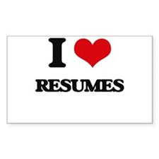 I Love Resumes Decal