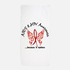 AIDS Butterfly 6.1 Beach Towel