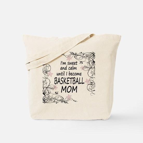 Cute Basketball mom Tote Bag