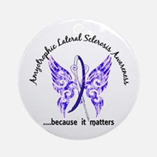 ALS Butterfly 6.1 Ornament (Round)