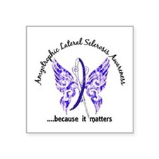 "ALS Butterfly 6.1 Square Sticker 3"" x 3"""