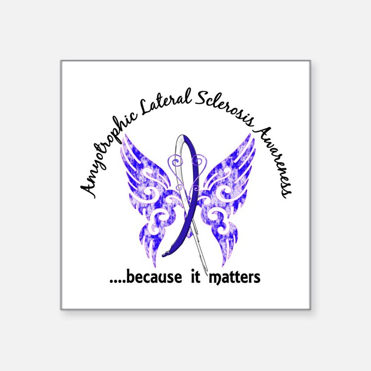 """ALS Butterfly 6.1 Square Sticker 3"""" x 3"""""""