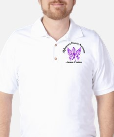 Alzheimer's Disease Butterfly 6.1 Golf Shirt