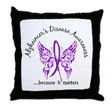 Alzheimer's Disease Butterfly 6.1 Throw Pillow