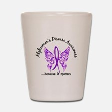 Alzheimer's Disease Butterfly 6.1 Shot Glass