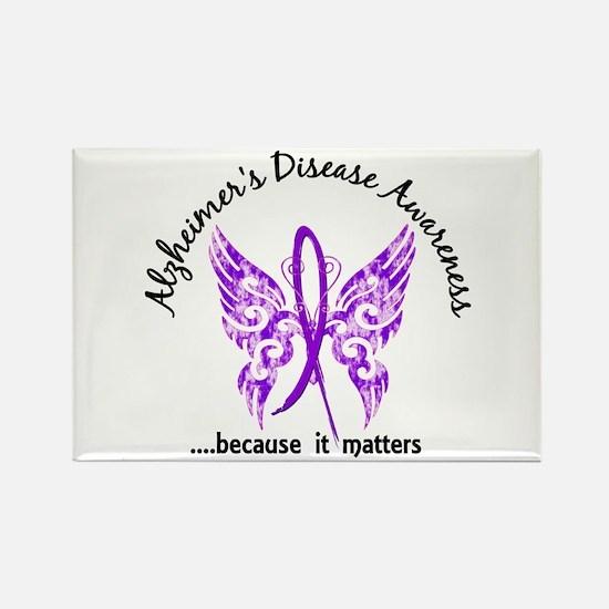 Alzheimer's Disease Butterfly 6.1 Rectangle Magnet