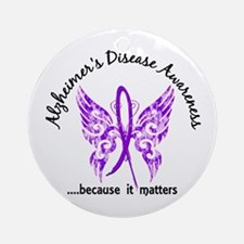 Alzheimer's Disease Butterfly 6.1 Ornament (Round)