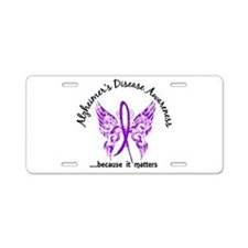 Alzheimer's Disease Butterf Aluminum License Plate