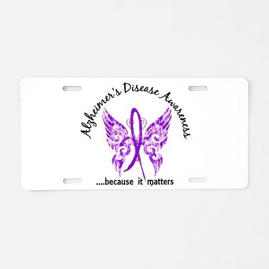 Alzheimer's Disease Butterf Aluminum License Plate