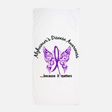 Alzheimer's Disease Butterfly 6.1 Beach Towel