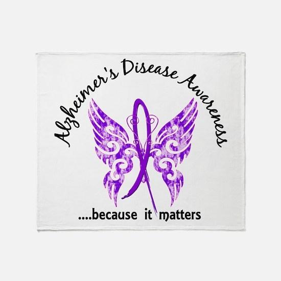 Alzheimer's Disease Butterfly 6.1 Throw Blanket