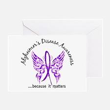 Alzheimer's Disease Butterfly 6.1 Greeting Card