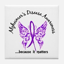 Alzheimer's Disease Butterfly 6.1 Tile Coaster