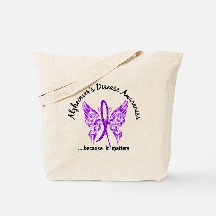 Alzheimer's Disease Butterfly 6.1 Tote Bag