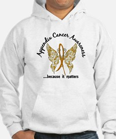 Appendix Cancer Butterfly 6.1 Hoodie