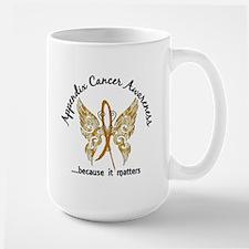 Appendix Cancer Butterfly 6.1 Large Mug