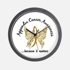 Appendix Cancer Butterfly 6.1 Wall Clock