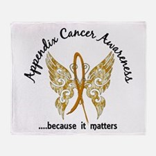 Appendix Cancer Butterfly 6.1 Throw Blanket