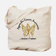 Appendix Cancer Butterfly 6.1 Tote Bag