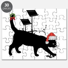MUSIC ROOM CAT -- CHRISTMAS Puzzle